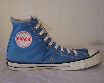 Converse Chuck Taylor, Vintage 1960s 70s Converse, Converse high top, Chucks shoes, Coach size 8