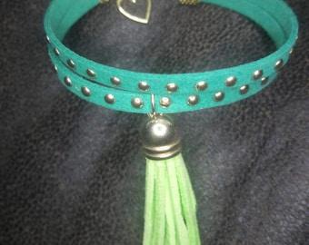 Bohemian Studded Suede Tassel bracelet