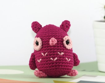 Crochet owl plush, amigurumi crochet owl, stuffed owl, owl deco, mini owl, mini crochet animals, gift owl, plush bird, plush crochet toy