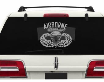 Paratroopers Decal Etsy - Military window decals for cars