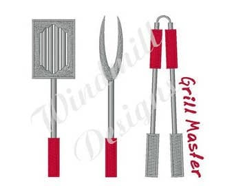 Grill Master Tools - Machine Embroidery Design