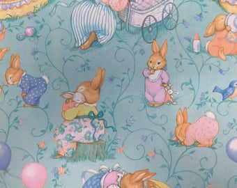 Vintage Rabbit Gift Wrap
