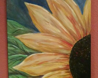 Sunflower Painting on Canvas