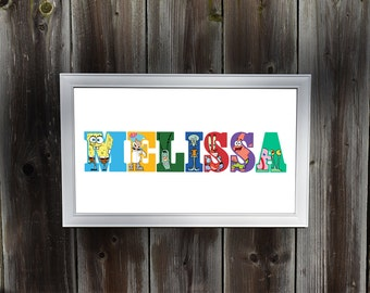 Personalized Spongebob Squarepants Wall Art