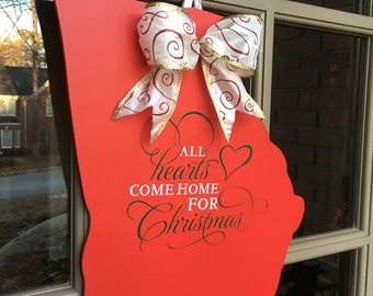 Front Door Decor-State of Georgia Christmastime