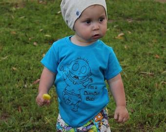 Cartoon shirt,Dum Dum Baby, Funny Toddler Shirt, Funny Baby Shirt, Toddler Shirt, 90's shirt, Cute Toddler Clothes, Cute Toddler outfit
