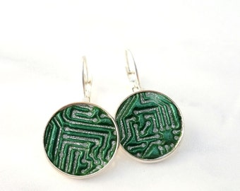 Circuit Board Earrings