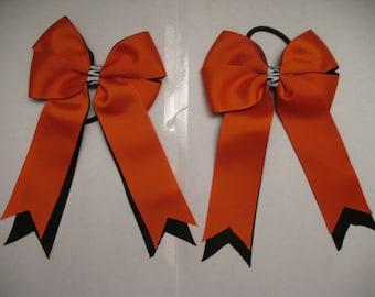 Horse Show Bows: Orange and Black Halloween