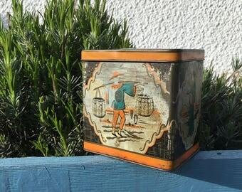 Vintage Ridgeways Tin Tea Caddy