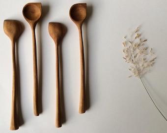 wooden spoon in walnut, cucchiai legno