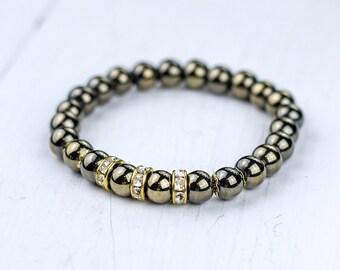 Natural Stone Bracelet Gemstone Bracelet Hematite