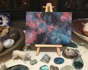 Cosmic Dust galaxy acrylic painting