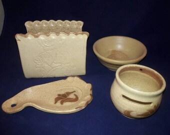Kalapuya Pottery 4 Piece Set