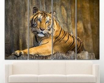 Tiger Canvas Tiger Wall Art Tiger print Tiger wall decor Animal wall art Animal wall decor Animal canvas Animal Large Print Decor