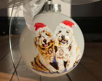 Custom Hand-painted Ornament - Snowman Themed