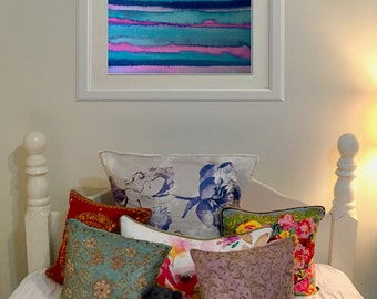 Giclée Print, Abstract Sea Landscape Ink Painting