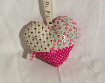 Decorative hanging hearts, sewing design.