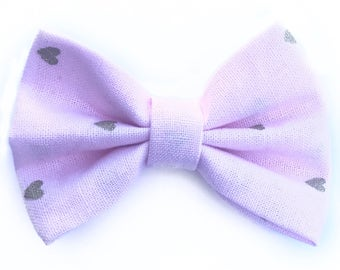 Pink and gold heart bow