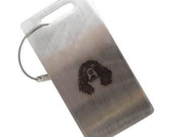 Irish Water Spaniel Stainless Steel Luggage Tag