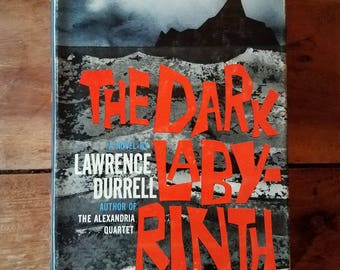 The Dark Labyrinth by Lawrence Durrell, Vintage Book, The Dark Labyrinth, Old Books, Science Fiction, Lawrence Durrell, Rare Books
