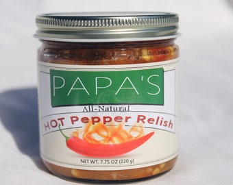 Papa's Hot Pepper Relish (HPR)- 12 Jars (FREE SHIPPING)