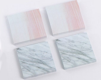 Marble Sticky Notes, Marble Effect Note Pad, Granite Memo Pad, Grey Marble Sticky Notes, Minimalist Post it Notes, Marble Notepad, ToDo List
