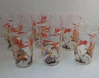 Mallard Ducks Glasses by Federal Glass ~ Set of 6