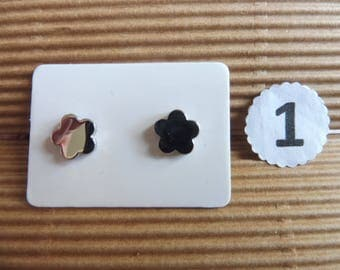 Stainless steel earrings in 5 different patterns here listed and numbered