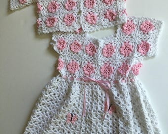 Vintage Crochet Dress and Jacket
