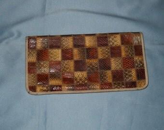Authentic vintage handbag! Python and genuine leather