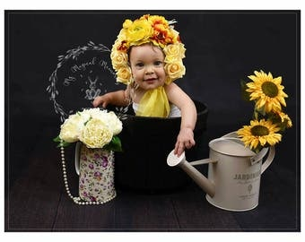 Sunshine flower bonnet