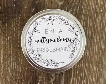 Personalised Tin Candles