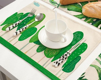 Green Forest/ Leaves Placemat