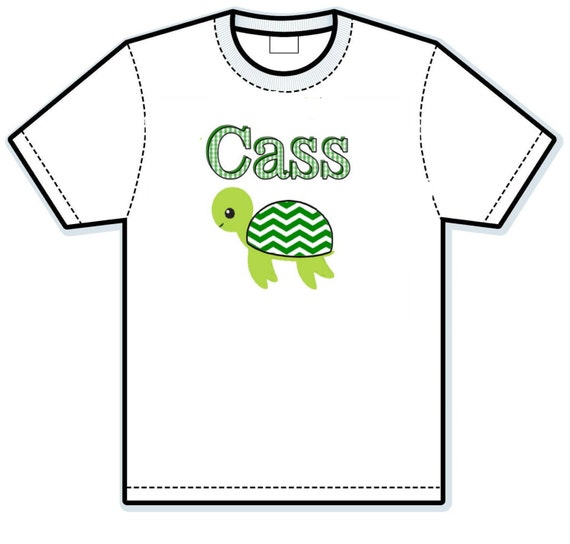 Little turtle personalized shirt
