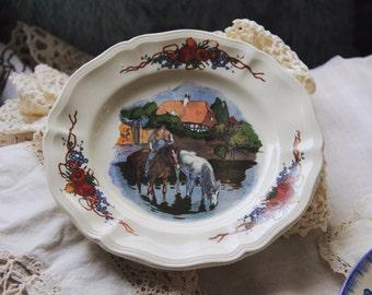 Old plate Sarreguemines