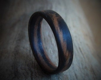 Hand Made Wood Ring - Unisex Ring - Gift for Him - Couples Ring - Gift for Boyfriend - Rustic Wedding Ring - Friendship Ring - wooden ring