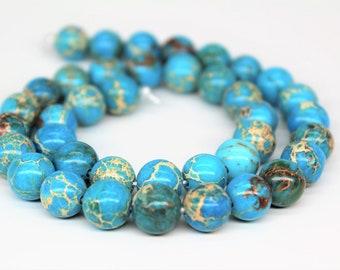 Blue Imperial Jasper Gemstone Round Loose beads 6/8/10mm