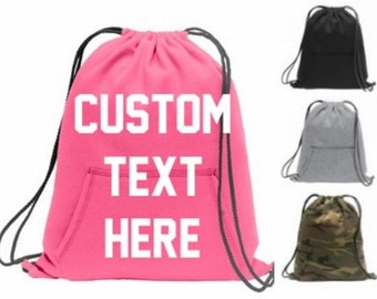 Custom Fleece Backpack - Get Your Personalized Sweatshirt Cinch Backpack