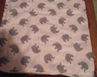 pink elephant pack of 2 burp cloths