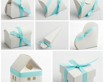 Luxury DIY Wedding Party Favour Gift Boxes - LINO BIANCO white (Box Only)