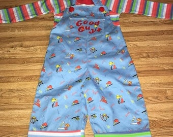 Infant toddler chucky good guy doll overalls costume 6 12 18 24 months
