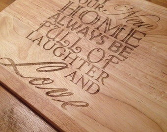 New Home Chopping Board *Personalised*