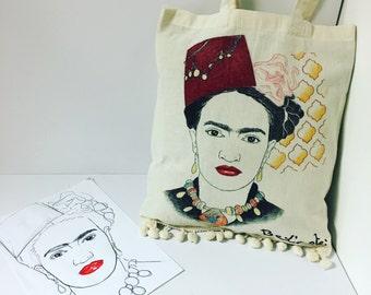 Tote bag Frida Khalo ' Bel' art '