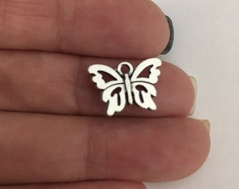 antique silver Butterfly charm