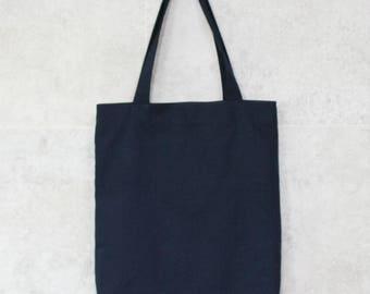 Navy tote bag, Navy canvas bag, Navy eco bag, navy book bag