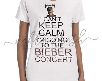 Justin Bieber Purpose Tour Concert I Can't Keep Calm Tshirt