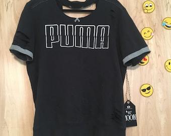 NOW ON SALE! Upcycled Puma short sleeve sweatshirt