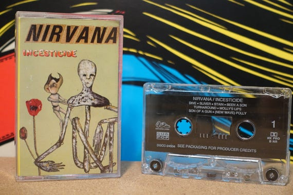 Incesticide by Nirvana Vintage Cassette Tape