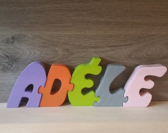 First name puzzle wooden letters