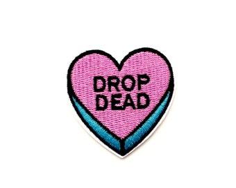 DROP DEAD Candy Heart Patch